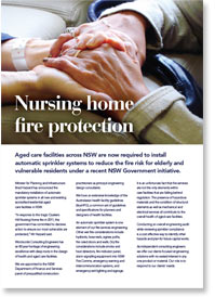 Find out more information in our nursing home fire protection information sheet.