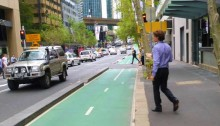 Woolacotts project Kent Street cycleway in the Sydney CBD